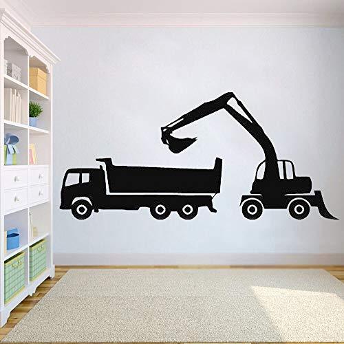 Ajcwhml Pegatinas de Vinilo para Pared calcomanías de Dormitorio decoración Trabajo camión Tractor Excavadora niños niñas decoración de guardería - 33X73 CM-33X73CM