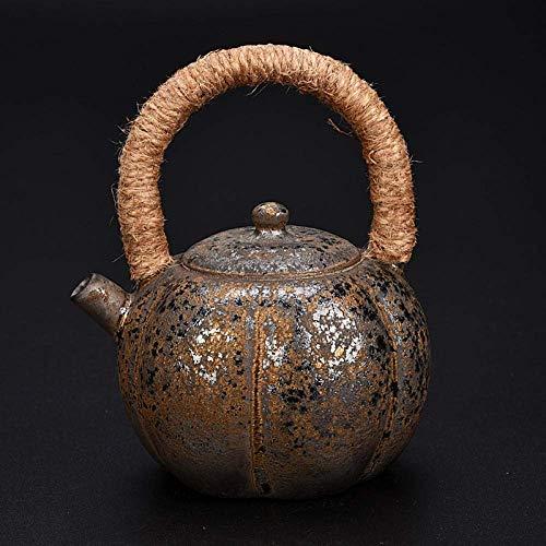 Sooiy Teiere di Ceramica della Porcellana teiera Oro Antico e Ceramica teiere tè Set Retro Kungfu,C