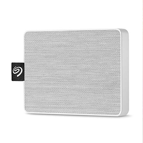 Seagate One Touch SSD, Portable externe SSD, 1 TB, 2.5 Zoll, USB 3.0, Mac & PC, weiß, inkl. 3 Jahre Rescue Service, Modellnr.: STJE1000402
