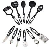 Juego de utensilios de cocina Juego de utensilios de cocina de 12 piezas, utensilios de cocina de acero inoxidable, nylon antiadherente, utensilios de cocina, utensilios de cocina