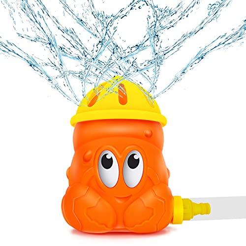 Magicfun Jouet d'Arrosage, Jouet d'eau Rotatif de Crabe avec Une Hauteur de Pulvérisation Elevée, Jeux d'eau de Jardin en Plein Air d'Eté pour Enfant 3+ Ans