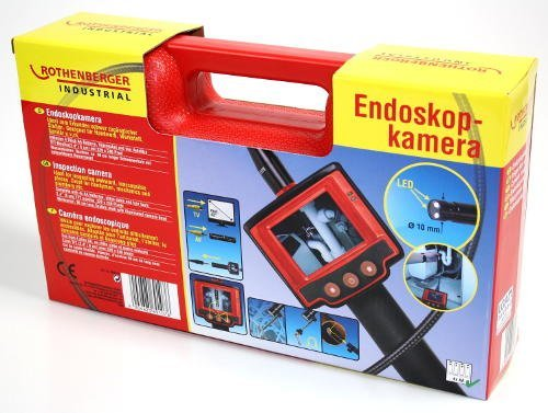 Endoskopkamera von Rothenberger für Inspektion und Fehlersuche mit Farbmonitor