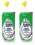 Scrubbing Bubbles Toilet Bowl Cleaner, Bubbly Bleach Gel, Lavender, 24 oz (Pack of 2)