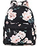Girls Mini Backpack Womens Small Backpack Purse Teens Cute Rainbow Travel Backpack Casual School Bookbag (Black flower)