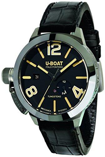 UBoat Unisex Datum klassisch Automatik Uhr mit Leder Armband 9006
