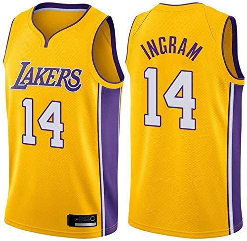 WSWZ Camiseta De Baloncesto De La NBA para Hombre - Los Angeles Lakers 14# Brandon Ingram Camisetas De La NBA - Unisex Cómodo Camiseta Sin Mangas Deportiva De Baloncesto,B,M(170~175CM/65~75KG)