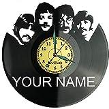 Liverpool Rock Your Name, reloj de pared de vinilo, reloj retro, reloj grande, decoración para el hogar, regalo ideal para novio, hombre, vinilo, decoración para el hogar, habitación inspiradora