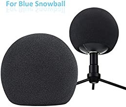 Blue Snowball Pop Filter - Customizing Microphone Windscreen Foam Cover for Improve Blue Snowball iCE Mic Audio Quality (Black)