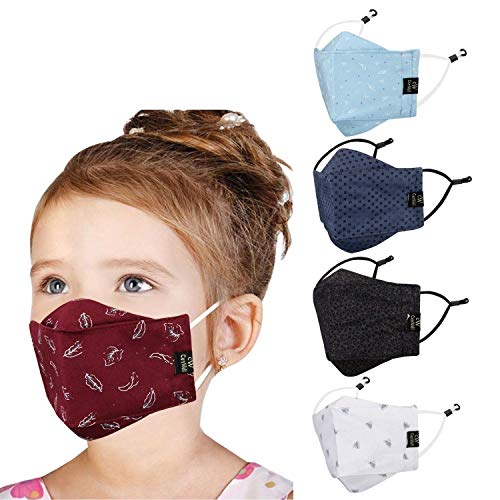 Cenwell Kids 3D Mask Reusable Washable Breathable Face Mask with Adjustable Earloops...