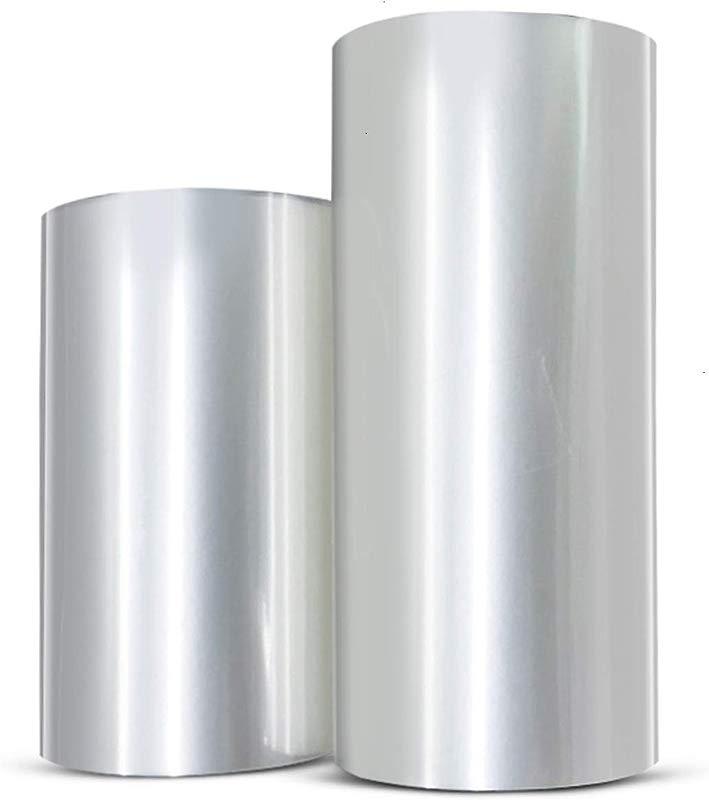 WEFOO 2 Rolls Mousse Cake Collar Transparent Membrane Baking Surrounding Edge Tape Perimeter Decorating Acetate Sheet 8cmx10m 10cmx10m
