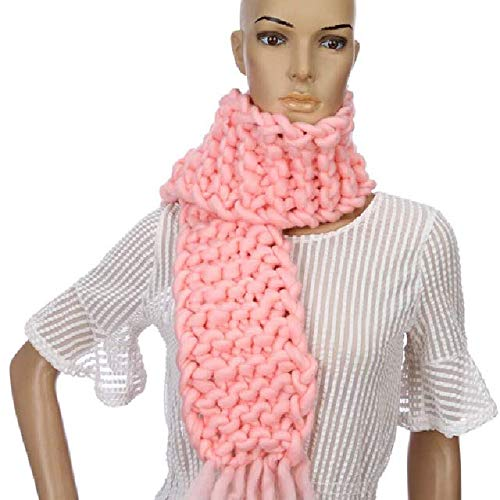 WEIYIM Mode Strickwolle Schal Frau Noppe Linie Warme Winter Schals Handstricken