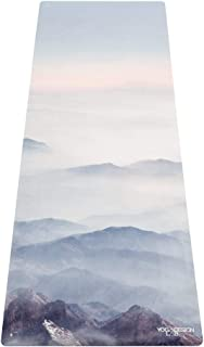 YOGA DESIGN LAB | Commuter Yoga Mat | 2-in-1 Mat+Towel | Lightweight, Foldable, Eco Luxury | Ideal for Hot Yoga, Bikram, Pilates, Barre, Sweat | 1.5mm Thick | Includes Carrying Strap!