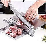 GJCrafts Affettatrice Tritatutto per Carne in Acciaio Inox per Ossa dure Manzo Montone, con angoli retti e piastre fisse , 24cm Affettatrice per Alimenti Vegetali per Uso Domestico.