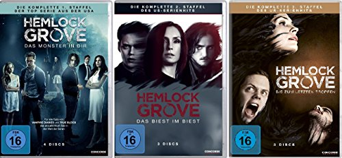 Hemlock Grove - Staffel 1+2+3 im Set - Deutsche Originalware [10 DVDs]