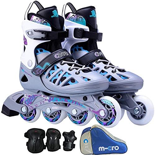 Hombres y Mujeres Skates de Rodillos en línea Ajustables, Patines en línea para Adultos, cómodos y Grandes para Principiantes