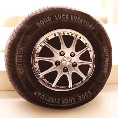 CPFYZH Peluche de neumático de Coche 3D para forzar el Verdadero neumático de Rueda 轱 轱 车 家 40Cm-Figure_40 Cm