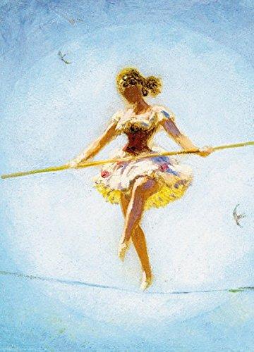 Preisvergleich Produktbild 1art1 Wilhelm Simmler - Tanz Auf Dem Hochseil,  1914,  2-Teilig Selbstklebende Fototapete Poster-Tapete 250 x 180 cm