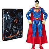 Batman V Superman - Theatrical & Ultimate Ed. – Mondo Steelbook (2 Blu Ray) [Esclusiva Amazon] + DC Comics SUPERMAN, Personaggio da 30 cm articolato, dai 3 anni - 6056778