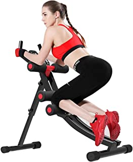 Fitlaya Fitness Core & Abdominal Trainers AB Workout Machine Home Gym Strength Training Ab Cruncher Foldable Fitness Equipment