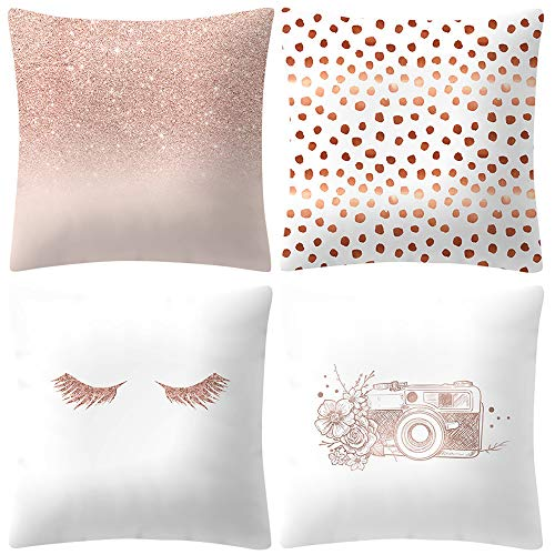 ABsoar Kissenbezuge Weihnachten Kissenhülle Dekokissen Throw Pillow Covers Für Autos Sofakissen Startseite Dekorative Weihnachten Sofa Bett Home Decor, Rose Gold Pink