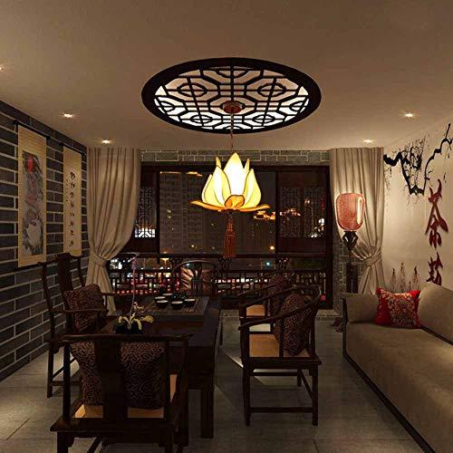 SZ&LAM Lámpara De Diseño Vintage, Lámpara De Loto Antigua Creativa, Lámpara De Hierro, Lámpara De Pasillo del Hotel del Templo Budista,Pointed,50cm