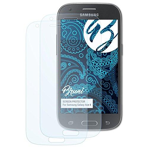 Bruni Schutzfolie kompatibel mit Samsung Galaxy Ace 4 Folie, glasklare Bildschirmschutzfolie (2X)