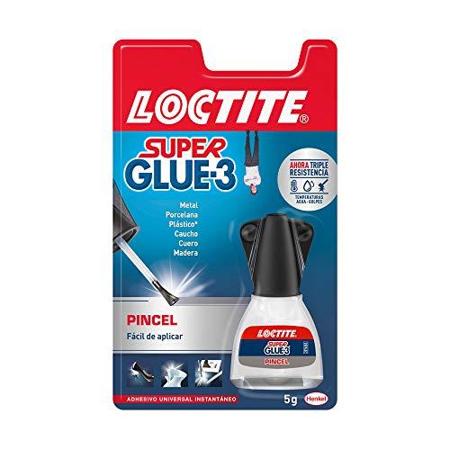 Loctite Super Glue-3 Pincel, pegamento transparente con pinc