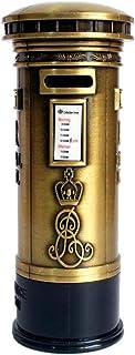 LCBN® Hucha Alta Capacidad Forma de buzón británico Planchar Estilo Europeo Decoración hogareña Recuerdos 18 cm Bronce