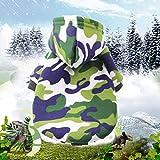 Abcsea 1 Pieza Color de Camuflaje Sudaderas con Capucha para Perros, Ropa para Perros, Ropa para Mascotas, Ropa de Invierno para Mascotas, Ropa de Abrigo para Mascotas, Verde S Talla