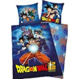 Dragon Ball Z - Juego de cama (funda nórdica de 140 x 200 cm y funda de almohada de 63 x 63 cm)