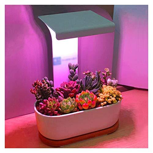 WFL-LED rosnące światło LED rosnące rośliny pełne spektrum biurko roślina światło puszka rozrząd czerwone / niebieskie światło 3/9/12H timer 3 tryby rozjaśniania 7 W dla poziomu energii wewnątrz 【A+】