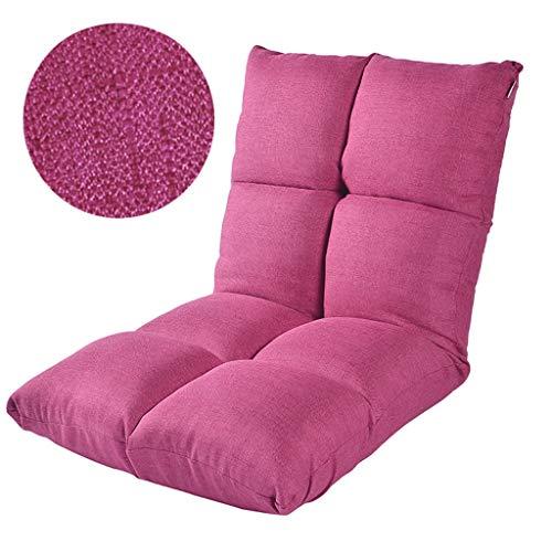 LSRRYD Verstelbare stoel Lazy met hoge rugleuning, meditatiestoel, 6 posities, gewatteerd zitkussen, speelstoel