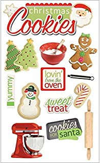 Paper House Productions STDM-0092E 3D Cardstock Stickers, Christmas Cookies (3-Pack)