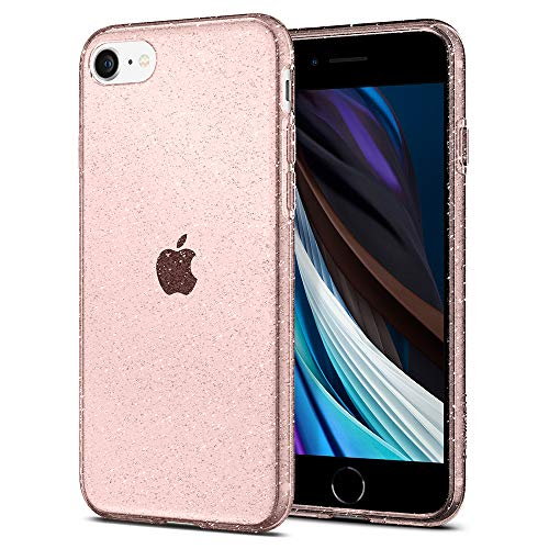 Spigen Cover Liquid Crystal Glitter Compatibile con iPhone SE 2020 Compatibile con iPhone 8 Compatibile con iPhone 7 - Rose Quartz