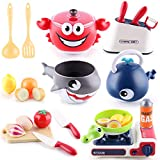 iPlay, iLearn Kids Kitchen Accessories, Cooking Toy Set, Pots N Pans, Pretend Play Cookware Playset...