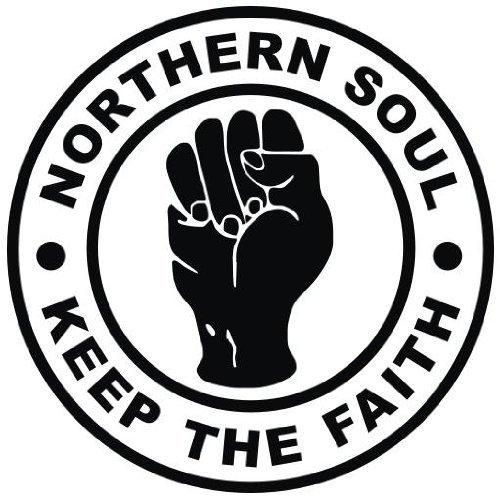 Alfombrilla Redonda para ratón, diseño con Texto en inglés Northern Soul - Keep The Faith