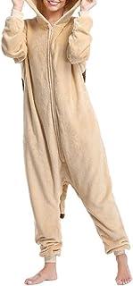 Body Divertido Pug Dog Onesies Mujeres Pijamas Hombres Animal Onesie para Adultos Disfraz de Cosplay de Dibujos Animados de una Pieza Pijamas Bodysuits