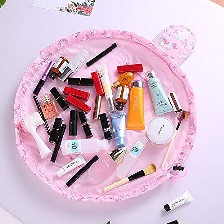 Lazy Drawstring Make-Up Bag Portable Travel Make Up Bag Storage Bag Various Styles Black