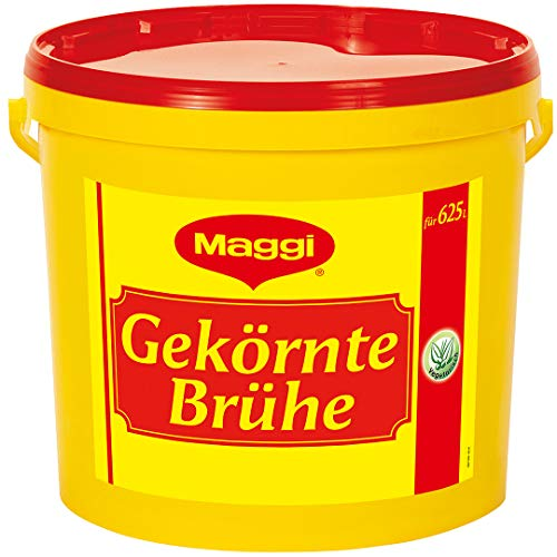 Maggi Gekörnte Brühe, Vegetarisch, sofort lösliche Brühe mit aromatischem Geschmack, 1er Pack (1 x 10kg Eimer)