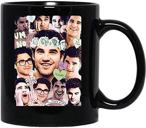 N\A Darren Criss Glee Blaine Anderson Klaine Kurt Hummel Chris Colfer Taza Taza Tazas de café Tazas de té () Taza con asa, Taza de café Reutilizable de cerámica aislada