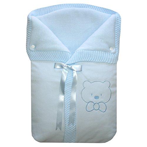 Saco de bebé para capazo Osito color azul Cucu-tras
