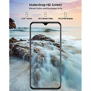 Teléfono Móvil Libres, DOOGEE X95 Android 10 Smartphone Libre, 4G Smartphone Barato Dual SIM, Pantalla 6,52 Pulgadas, 4350mAh Batería, Triple Cámara 13MP+5MP, 16GB ROM, 128GB SD, Face ID - Negro