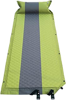 MagiDeal Outdoor Camping Inflating Mattress Sleeping Pad Mat w/Pillow Hiking - Green