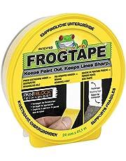 FrogTape Delicate Afplakband – Schilderingstape met Paint-Block-technologie – crêpband voor schone randen bij het schilderen & lakken, 24mm x 41m, geel, 1