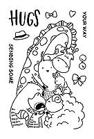 DIYスクラップブッキング/カード作成/キッズクリスマス楽しい装飾用品のための動物の透明なクリアスタンプ