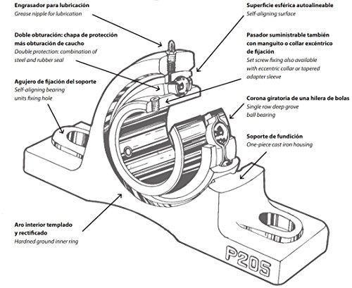 DOJA Industrial | Rodamientos con Soporte UCP 206 | Cojinetes de ...