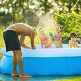 KOSIEJINN Aufstellpool Gartenpool Set Rund Sommer Outdoor Spiel Garten Wassersprühspielzeug Kinder Aufblasbarer Pool Home Baby Wear Resistant Dicker Ocean Ball Pool Großer Runder Aufblasbarer Pool