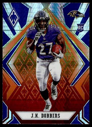 2020 Panini Phoenix Fire Burst #115 J.K. Dobbins Baltimore Ravens (Silver Prizm Refractor) NFL Football Card (RC - Rookie Card) NM-MT