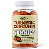 Turmeric Curcumin Gummies with Ginger by New Age - Vegan Gummies - Premium Joint & Healthy Support with 95% Standardized Curcuminoids - Non-GMO, Gluten Free, Vegetarian Gummies