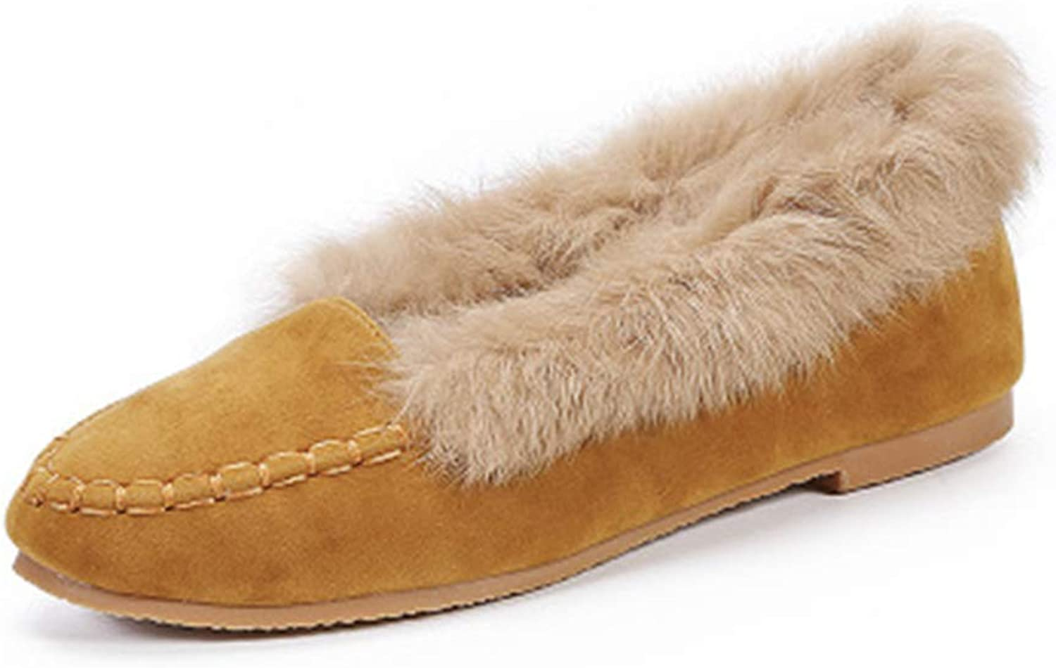Cloudless Women's Fur Lined Fashion Shallow Winter Flat shoes